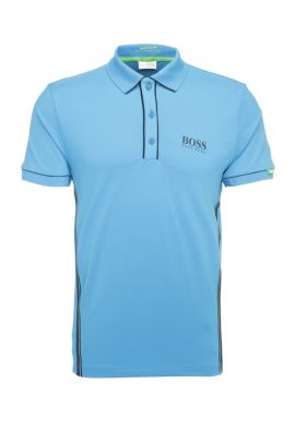 'Paddy MK' | Modern Fit, Moisture Manager Stretch Cotton Polo Shirt, Open Blue