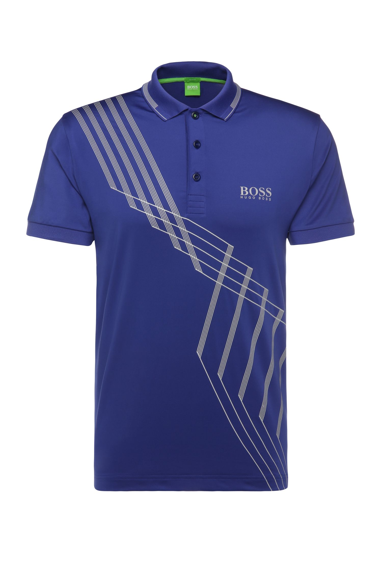 'Paule Pro' | Slim Fit, Stretch Graphic Polo