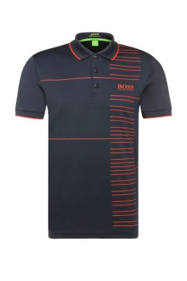 'Paddy Pro' | Modern Fit, Moisture Manager Stretch Polo Shirt, Dark Blue
