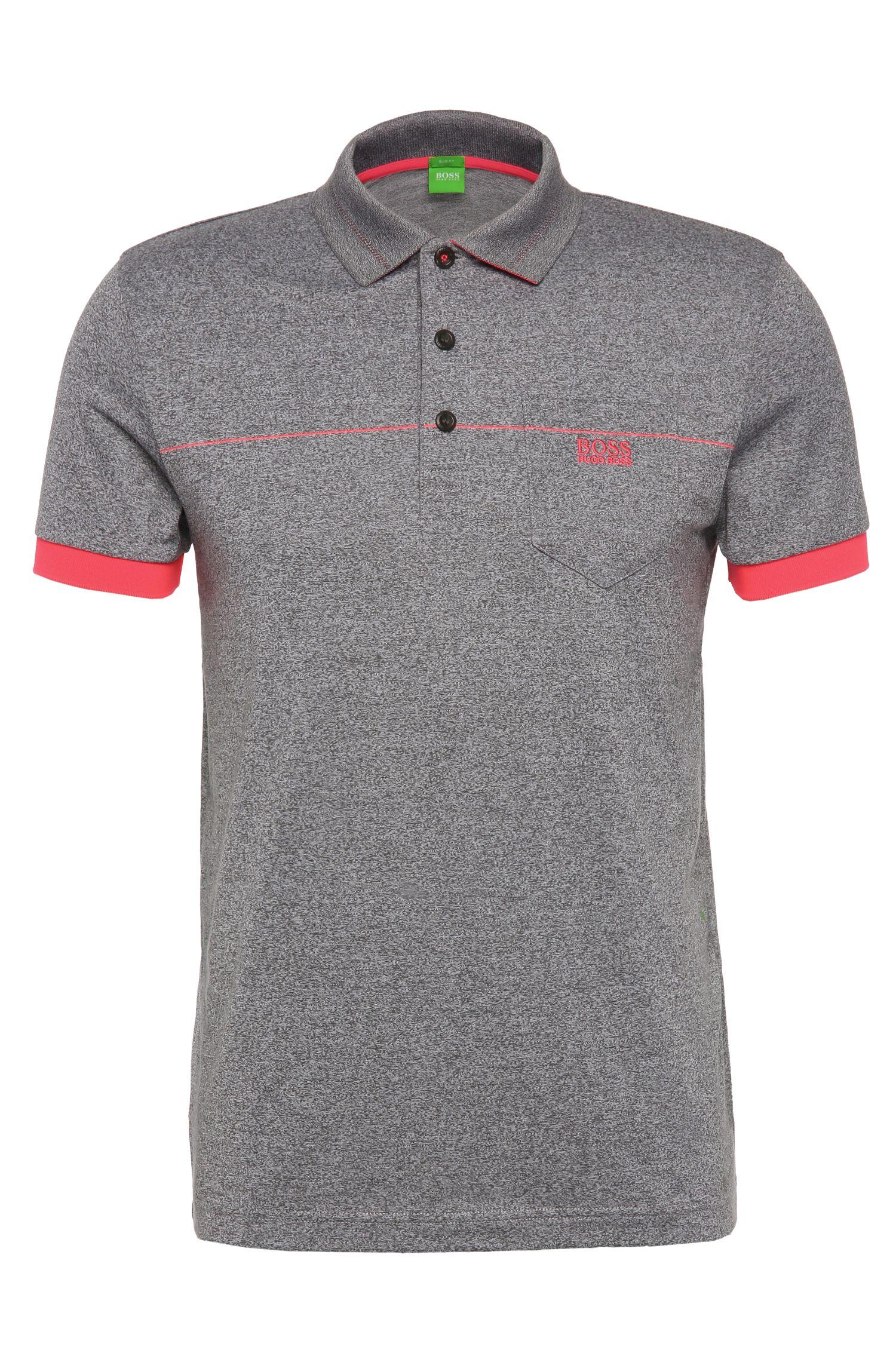 'Paule' | Cotton Blend Melange Polo Shirt