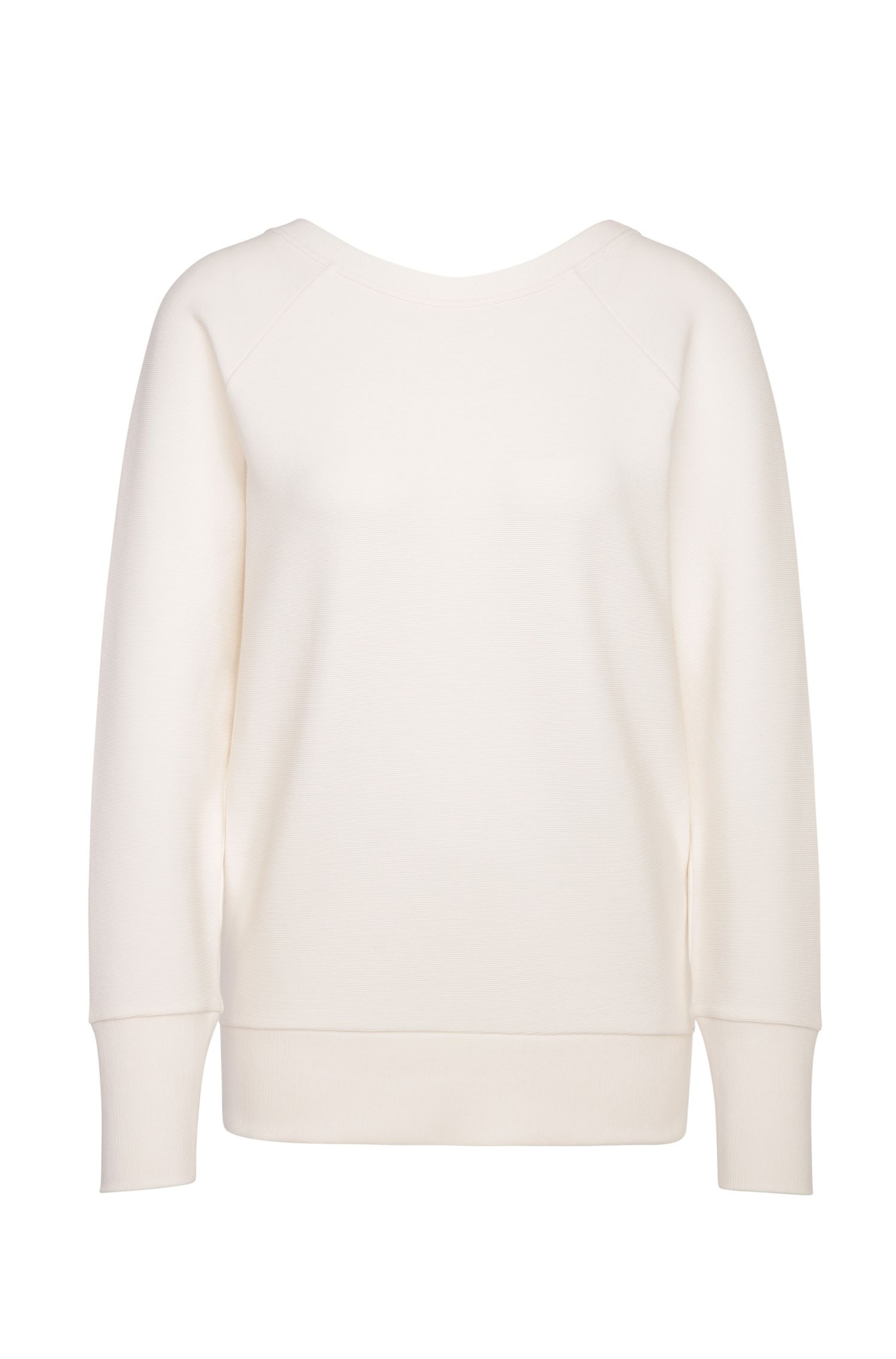 'Tawow' | Stretch Cotton Blend Ribbed Sweatshirt