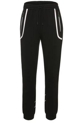 'Hilliams' | Stretch Cotton Nylon Track Pants, Black