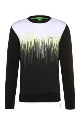 'Salbon' | Stretch Cotton Blend Sweatshirt, Black