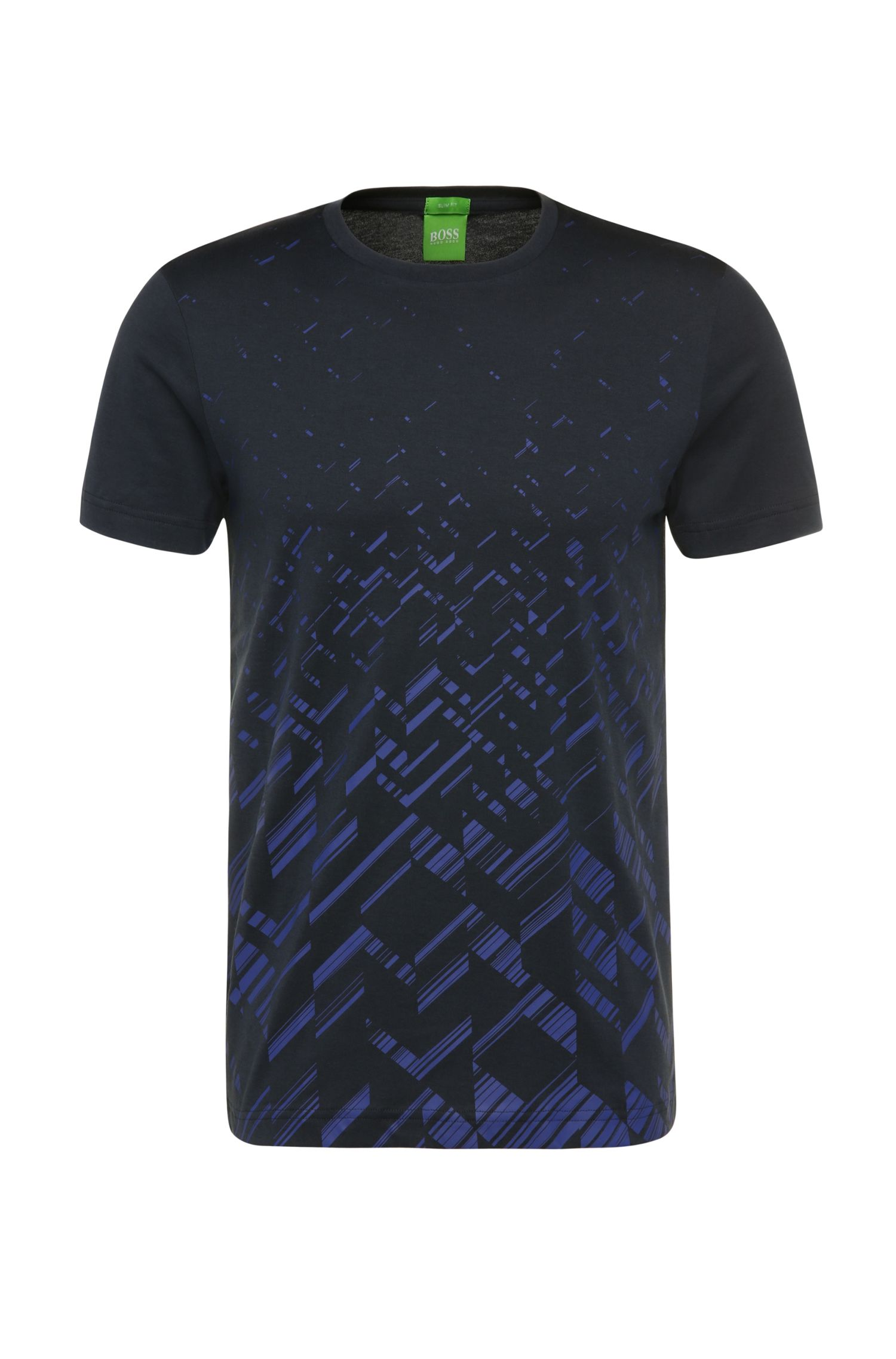 'Teeocell'   Cotton Lyocell Patterned T-Shirt