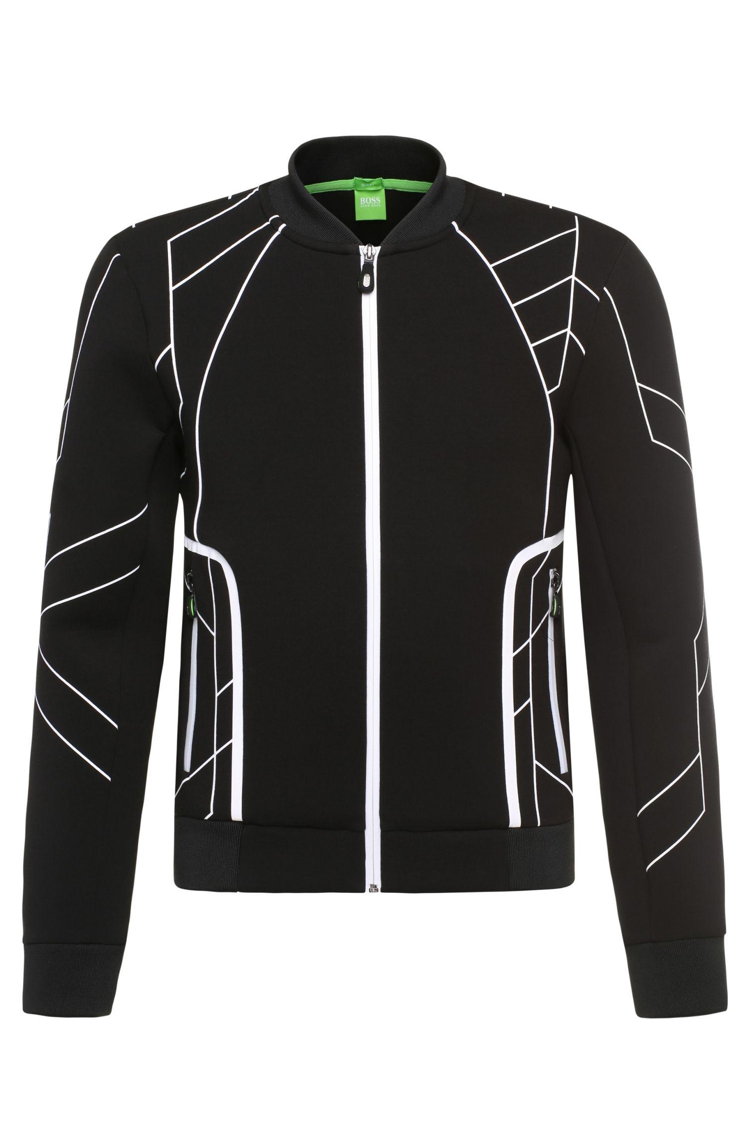 'Sharrell' | Stretch Cotton Nylon Zip Jacket