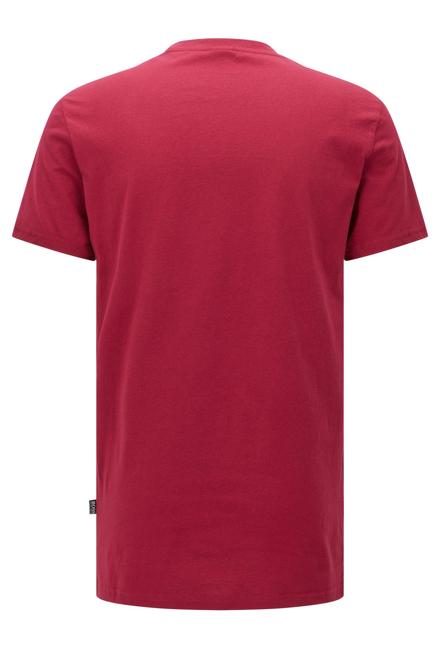 Cotton Logo UV T-Shirt   T-Shirt RN, Dark Red