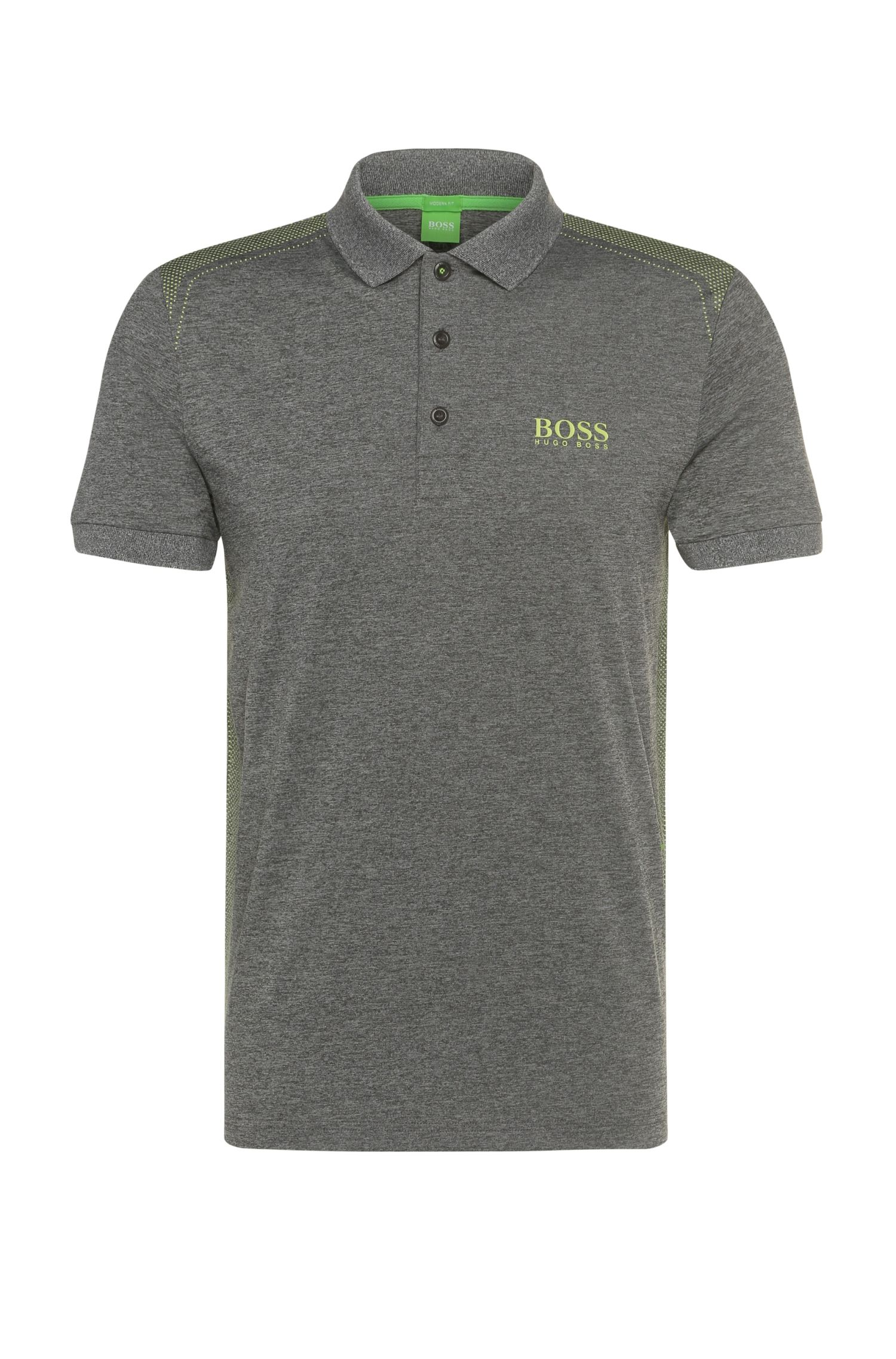 'Paddy Pro'   Modern Fit, Stretch Dot Polo Shirt