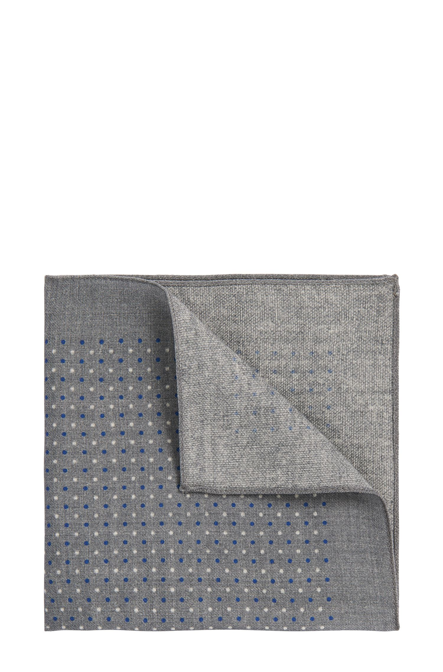'Pocket sq. cm 33x33' | Wool Patterned Pocket Square