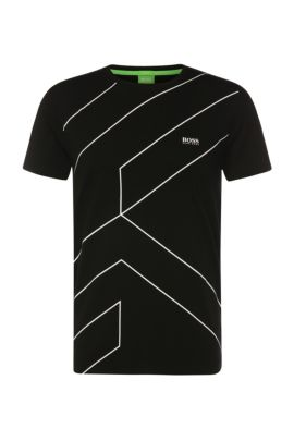 'Teecell'   Stretch Cotton Lyocell T-Shirt, Black