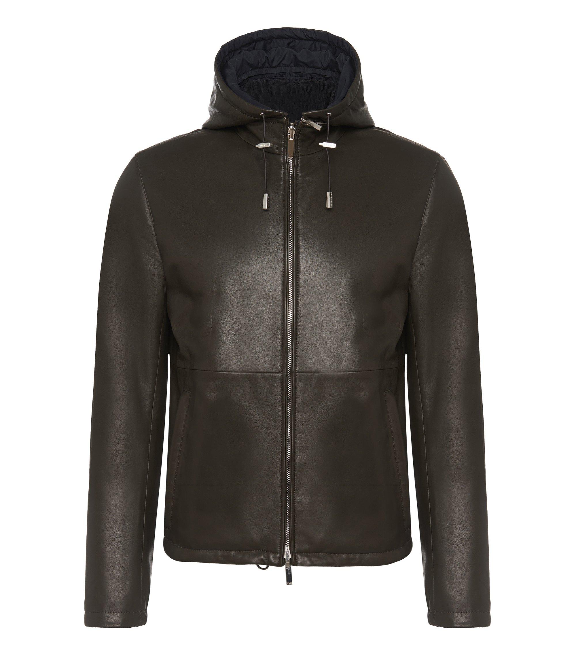 Lambskin Reversible Jacket | Driffis, Khaki