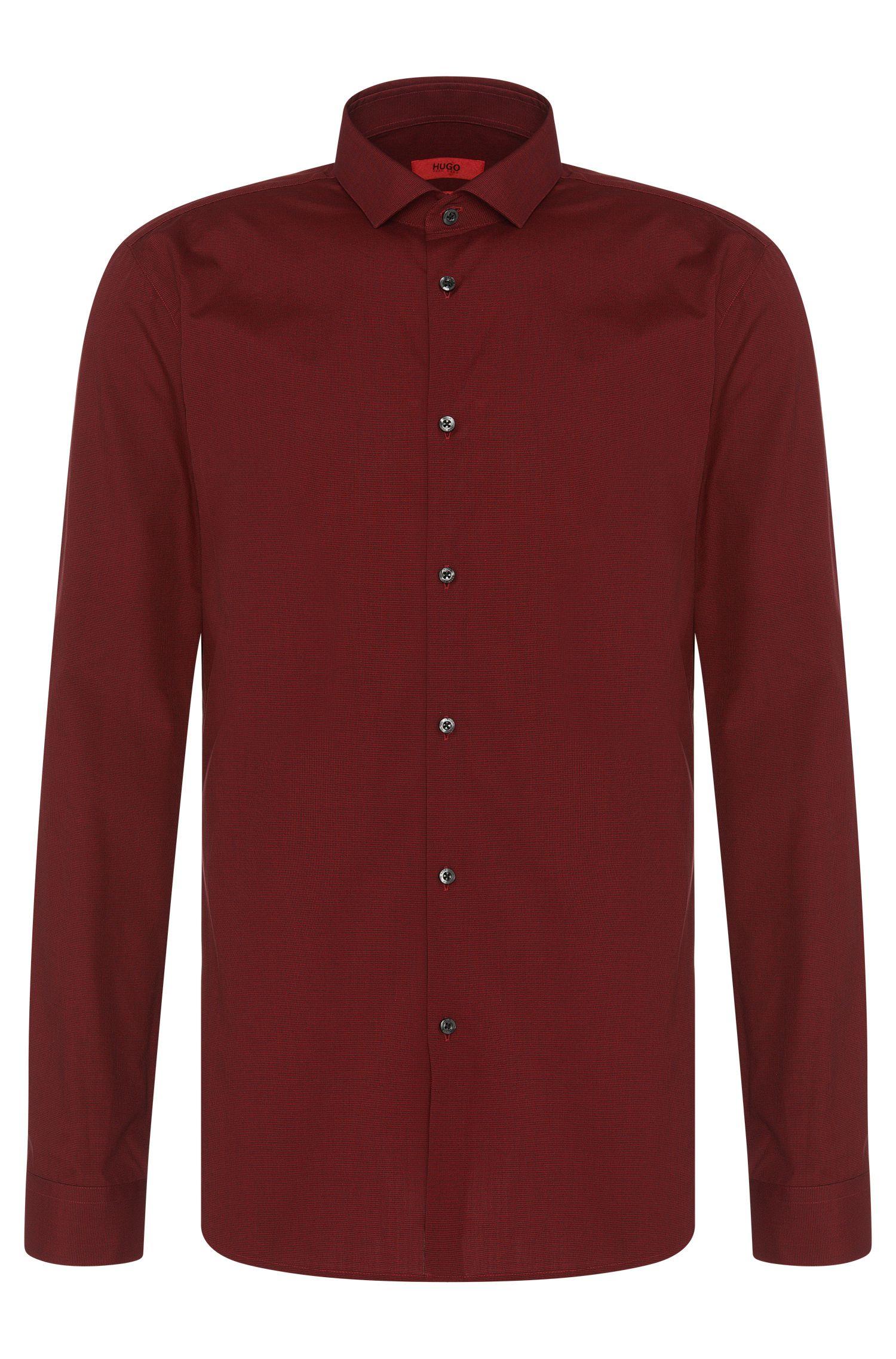 Micro-Houndstooth Cotton Dress Shirt, Extra-Slim Fit | Erondo