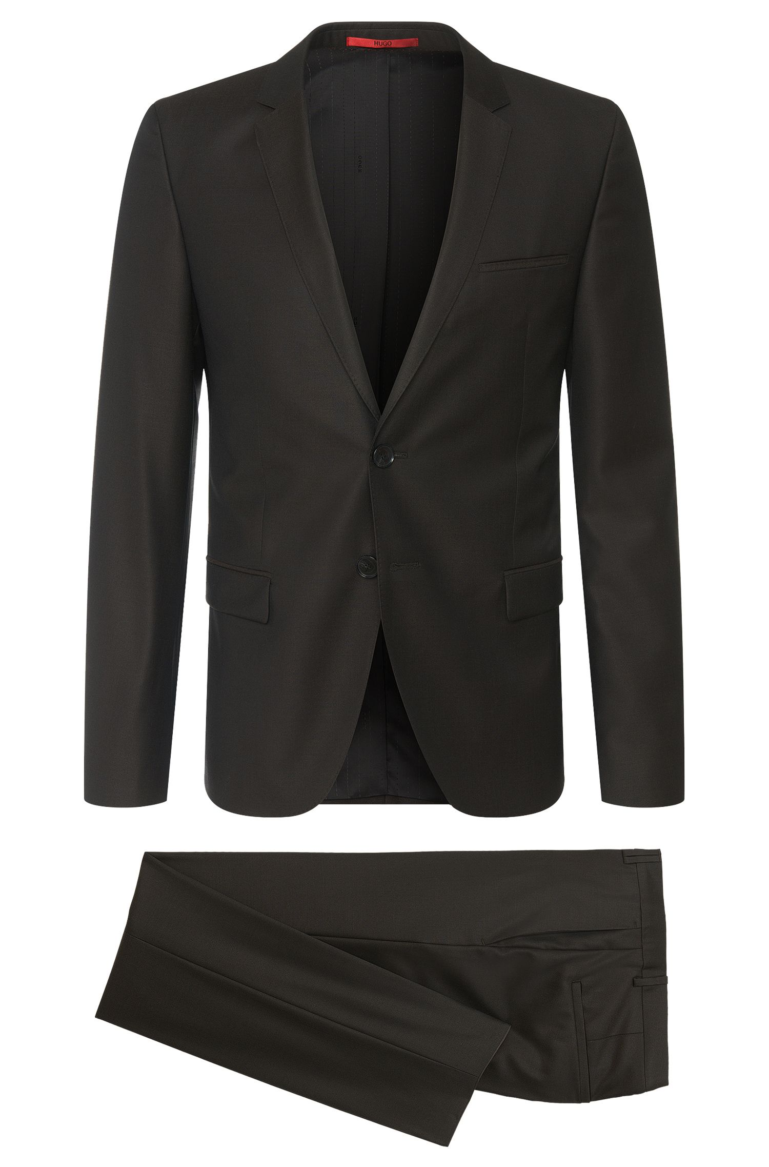 Italian Virgin Wool-Silk Suit, Slim Fit | Arti/Helion