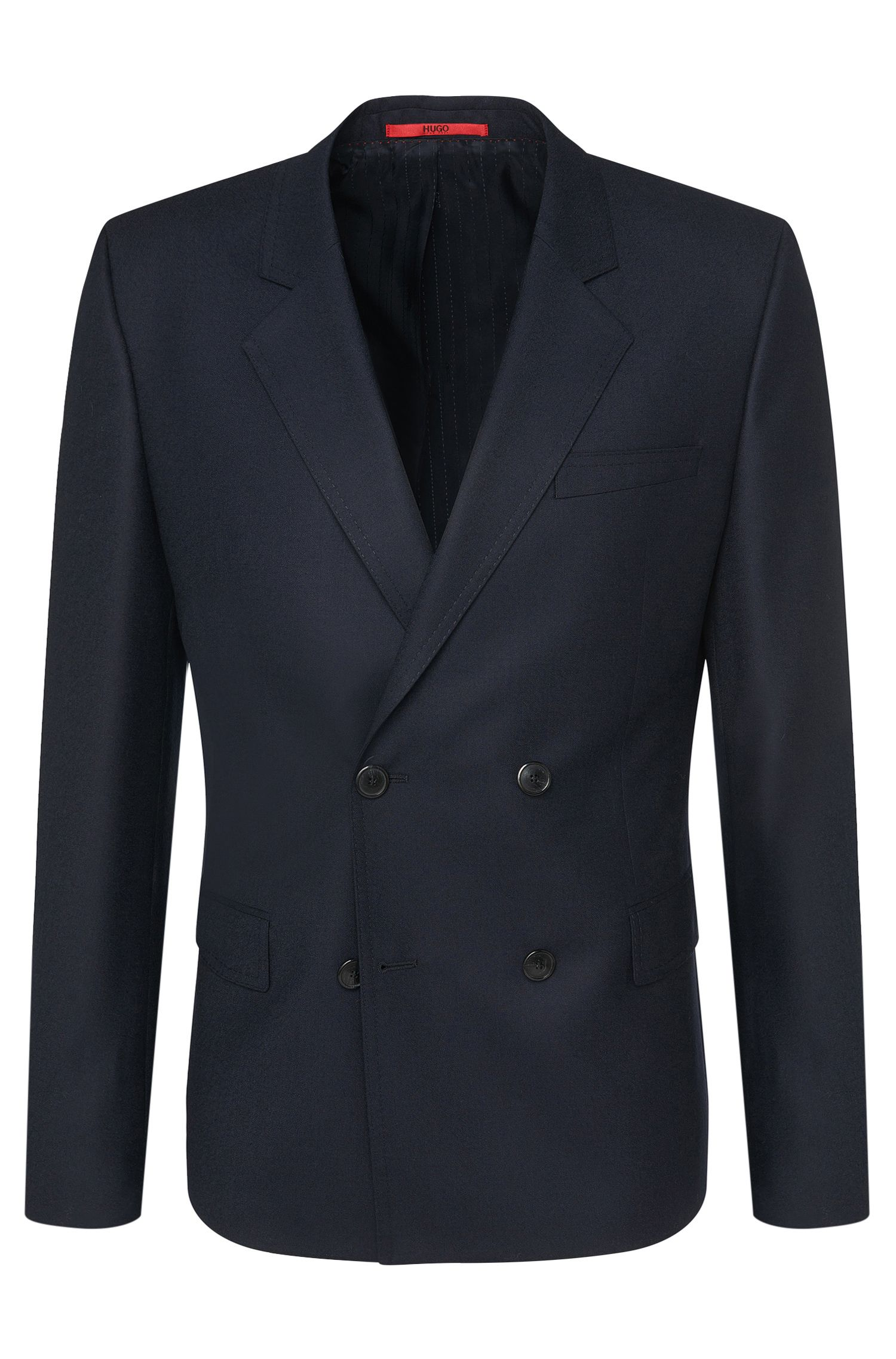 'Andru' | Slim Fit, Virgin Wool Double Breasted Sport Coat