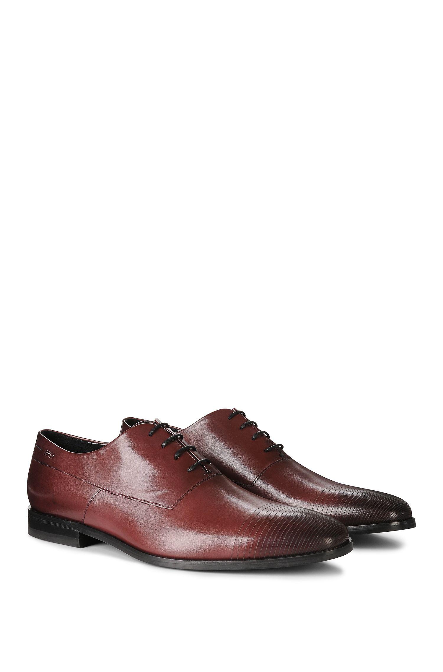'Square Oxfr ltls' | Calfskin Scored Toe Oxford Dress Shoes
