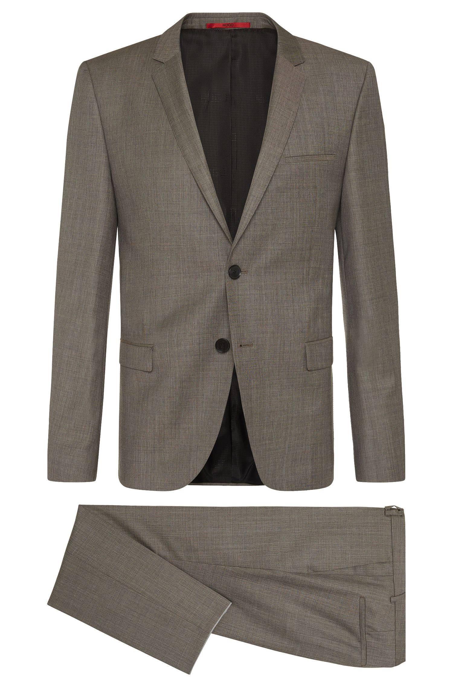 Heather Virgin Wool Suit, Slim Fit | Arti/Helion