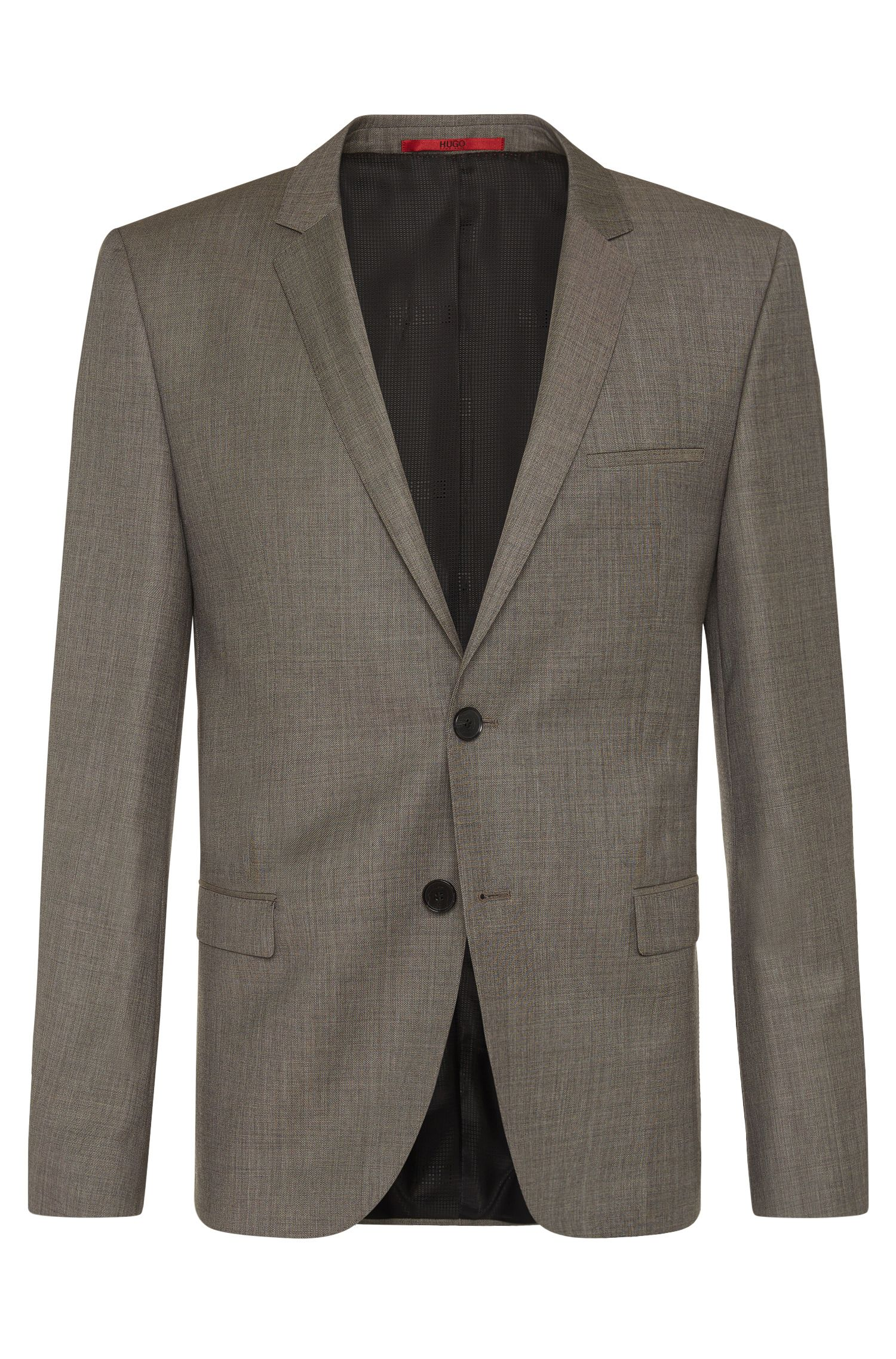 Heather Virgin Wool Suit, Slim Fit | Arti/Helion, Beige