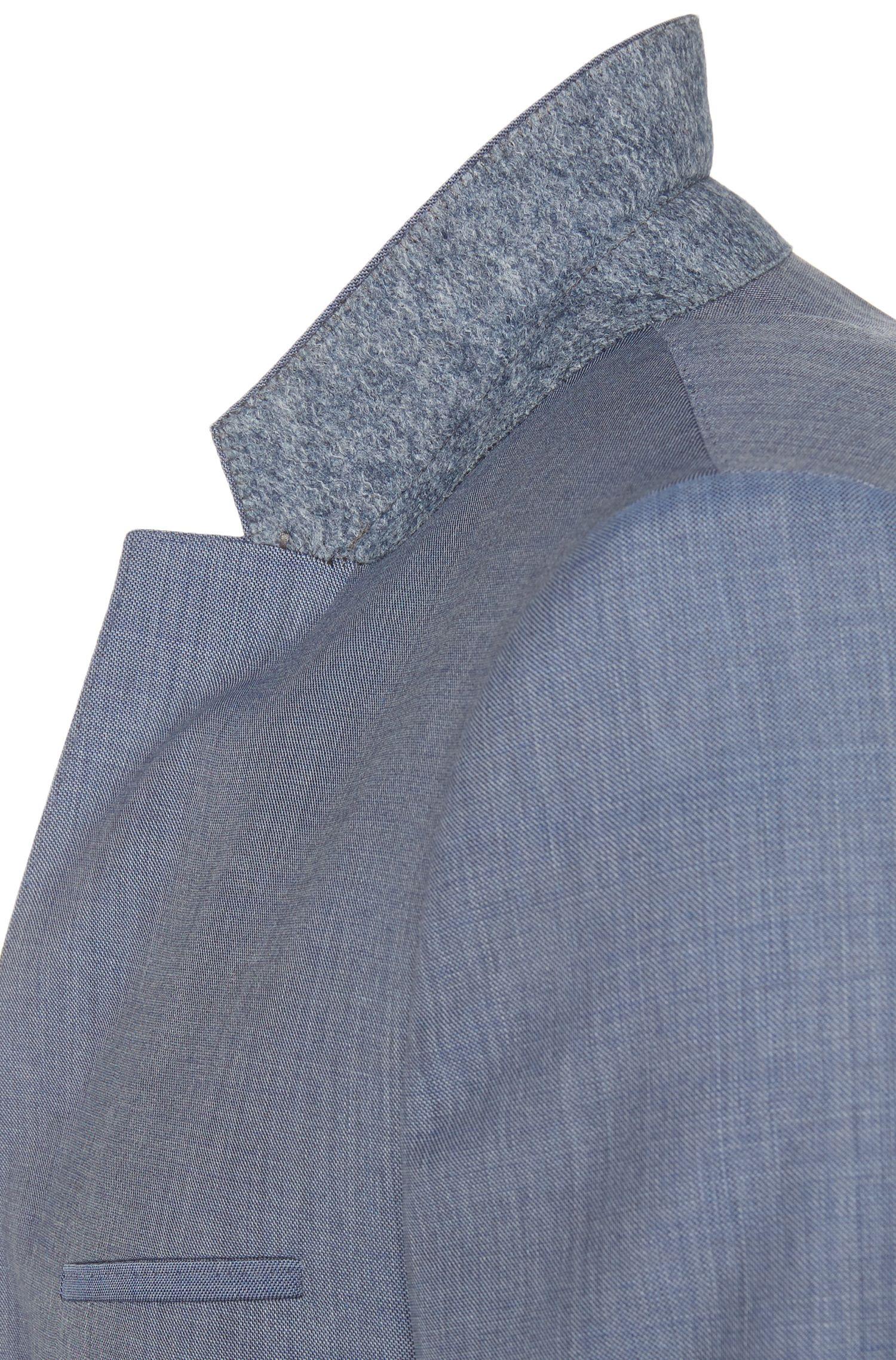 Heather Virgin Wool Suit, Slim Fit   Arti/Helion, Turquoise