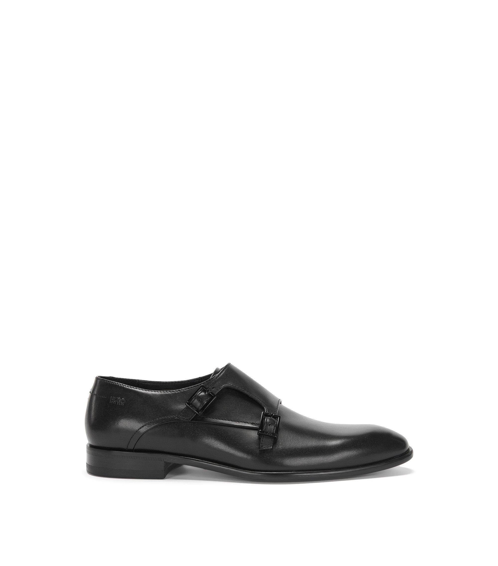 Calfskin Double Monk Strap Dress Shoe | Dressapp Monk Bu, Black