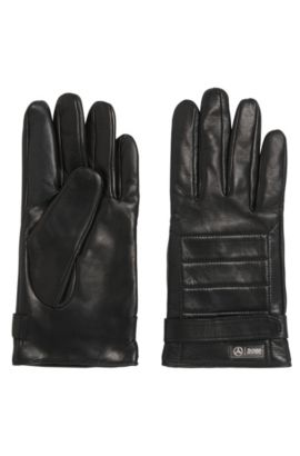 'Kilox-TT' | Lambskin Quilted Gloves, Black