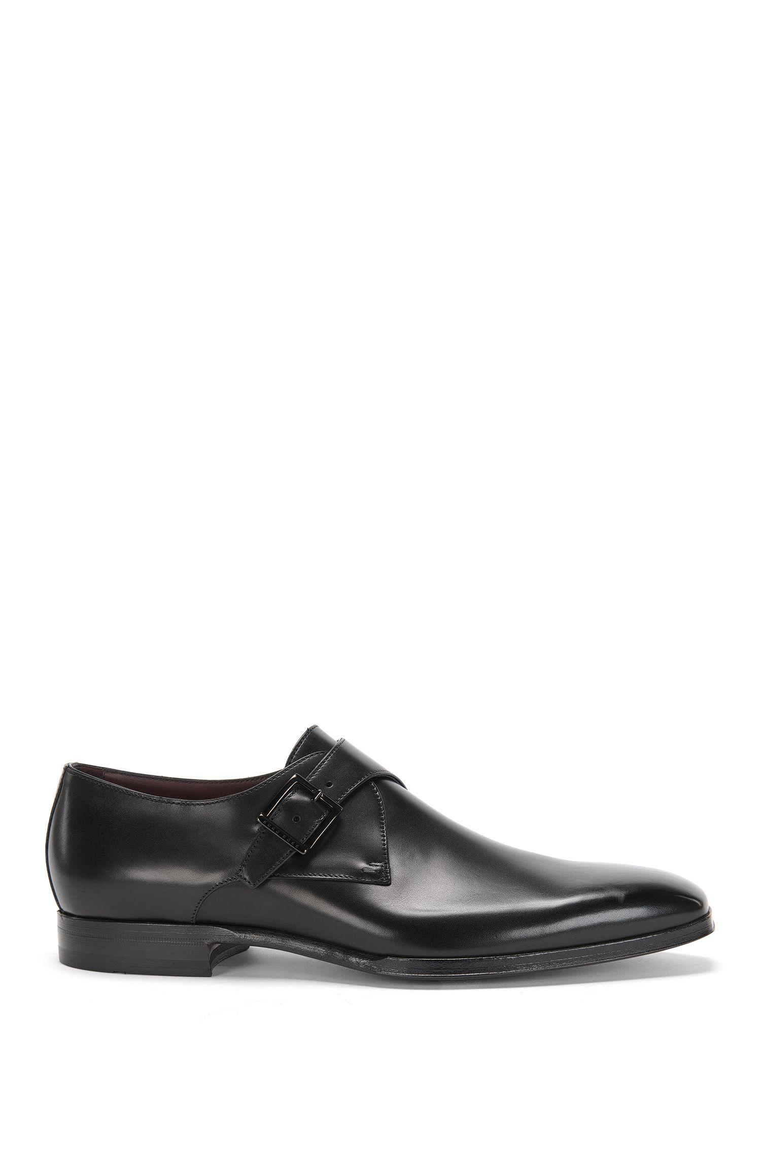 'T-Club Monk Itpt'   Italian Calfskin Monk Strap Dress Shoes