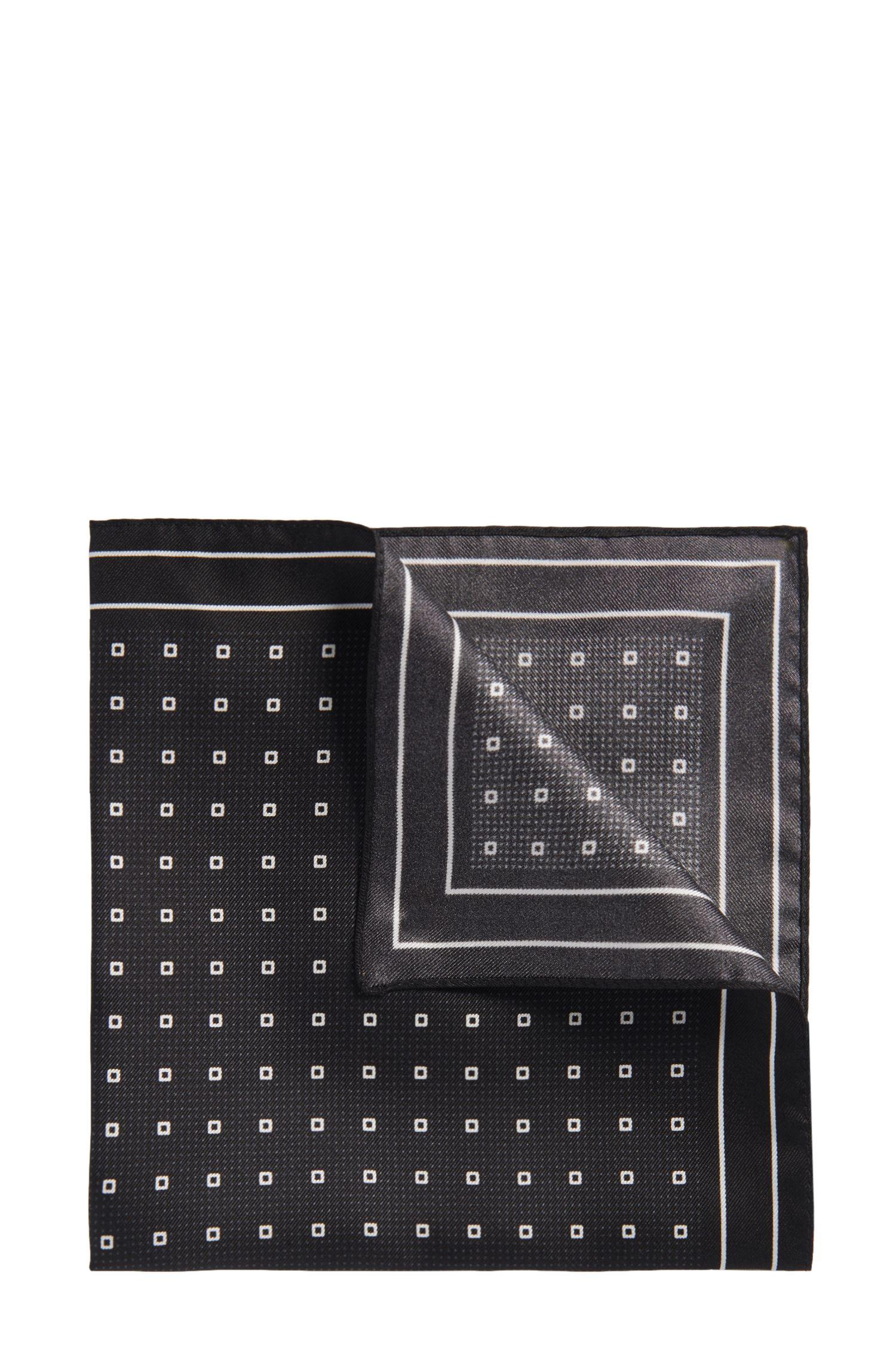 'Pocket sq. cm 33x33'   Silk Patterned Pocket Square