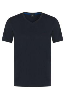 'Teal 11' | Cotton Melange T-Shirt, Dark Blue