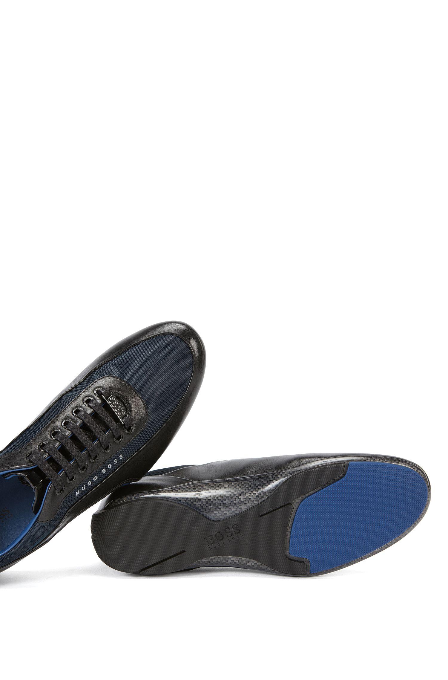 Calfskin Sneaker | HB Racing Lowp Itny, Dark Blue