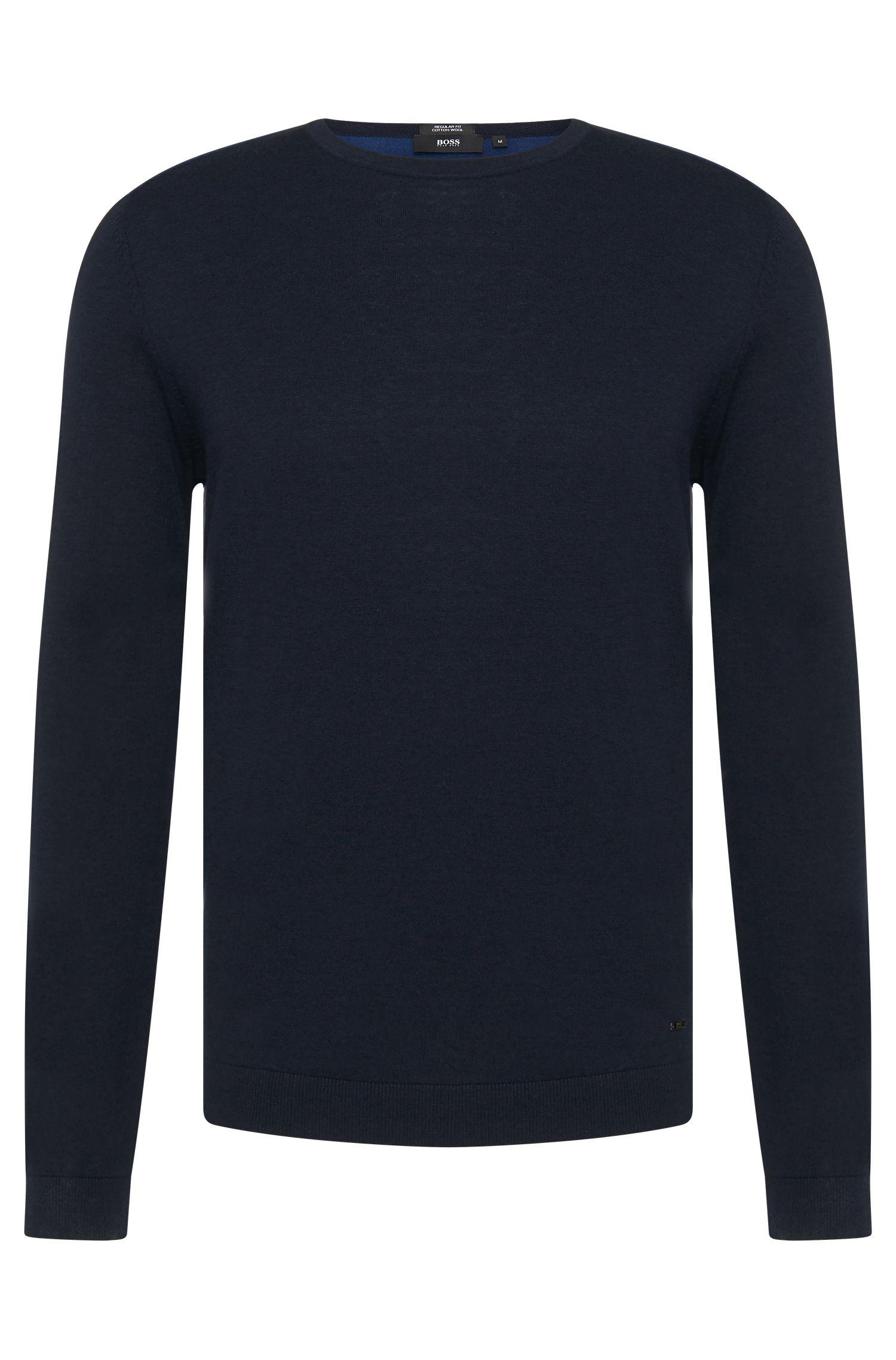 'Bocci'   Virgin Wool Cotton Colorblocked Sweater