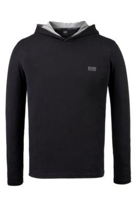 Jersey Hoodie | LS Shirt Hooded, Black