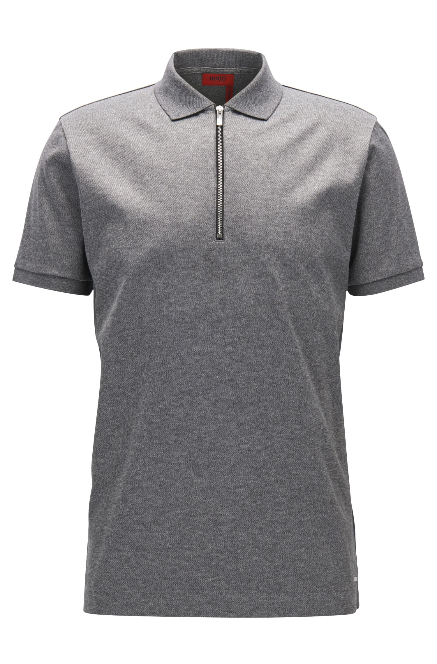 Mercerized Cotton Twill Polo Shirt, Regular Fit | Digato