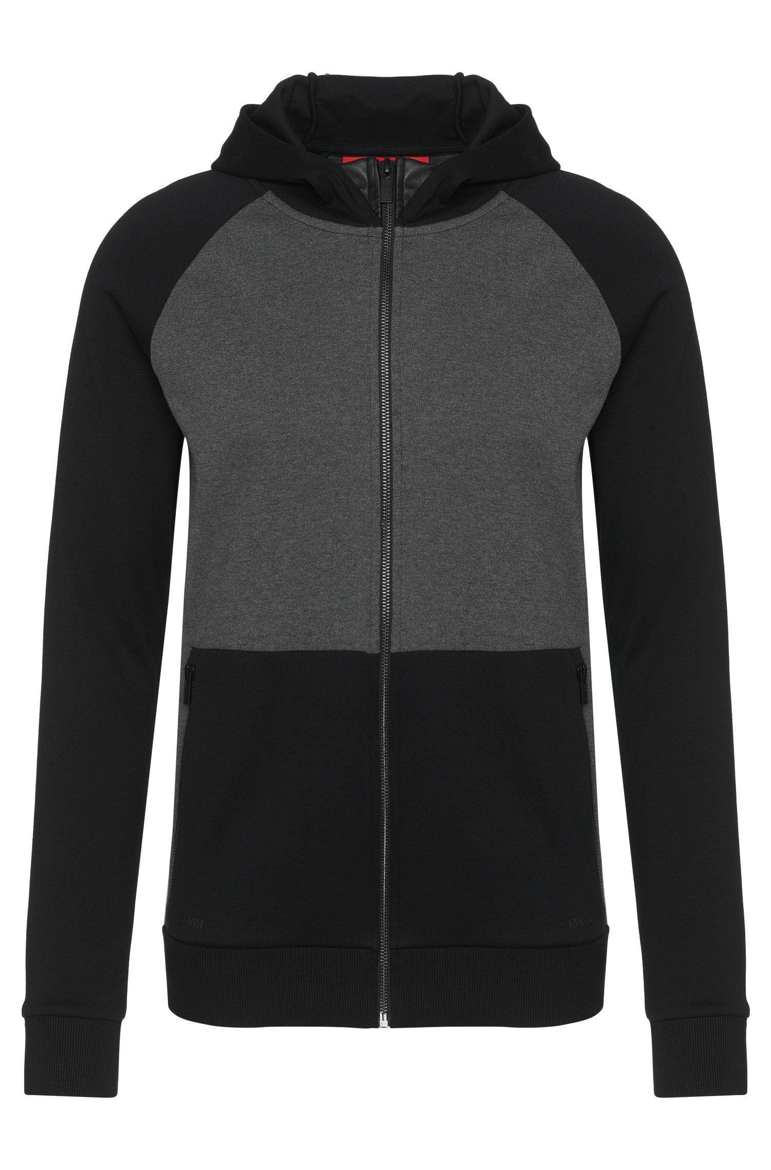 'Dapri' | Cotton Colorblocked Hooded Sweatshirt