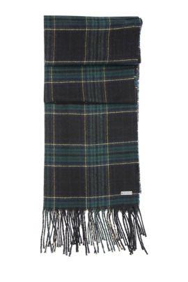 'Nataniel'   Cotton Virgin Wool Blend Scarf, Black