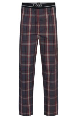 'Long Pant EW' | Cotton Lounge Pants , Open Red