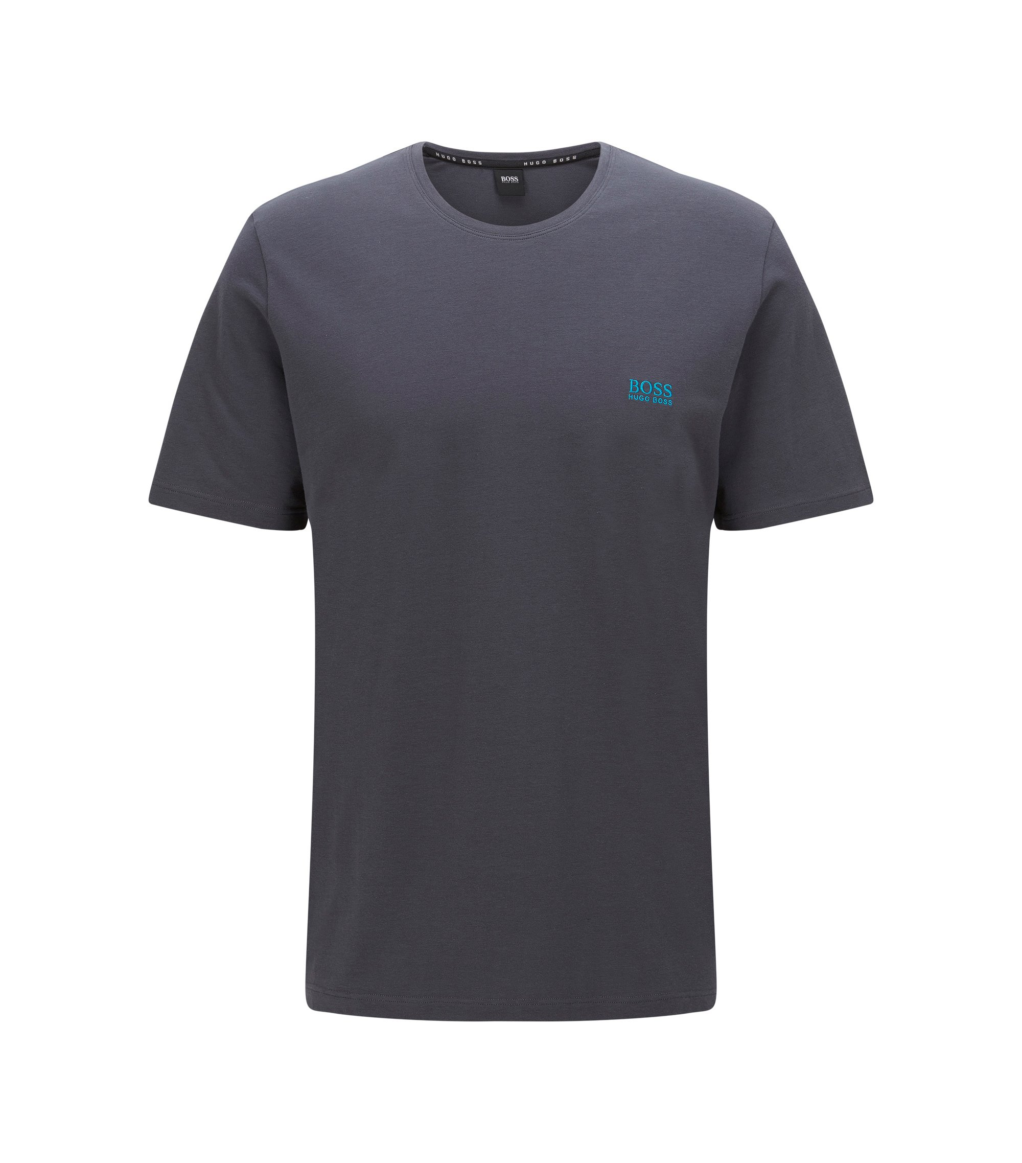 Stretch Cotton Logo T-Shirt | T-Shirt RN, Dark Grey