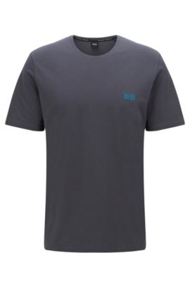 Stretch Cotton Log T-Shirt | T-Shirt RN, Dark Grey
