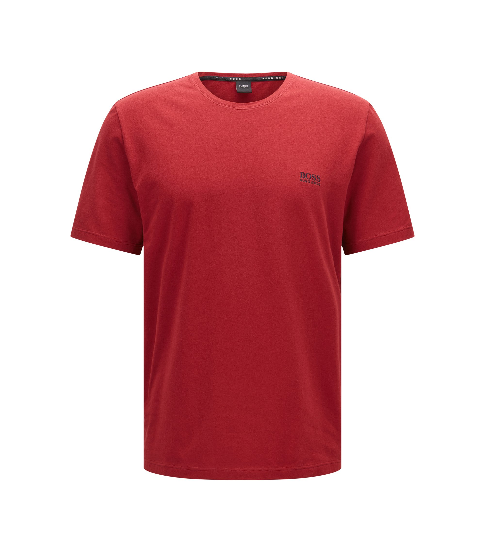 Stretch Cotton Logo T-Shirt   T-Shirt RN, Dark Red