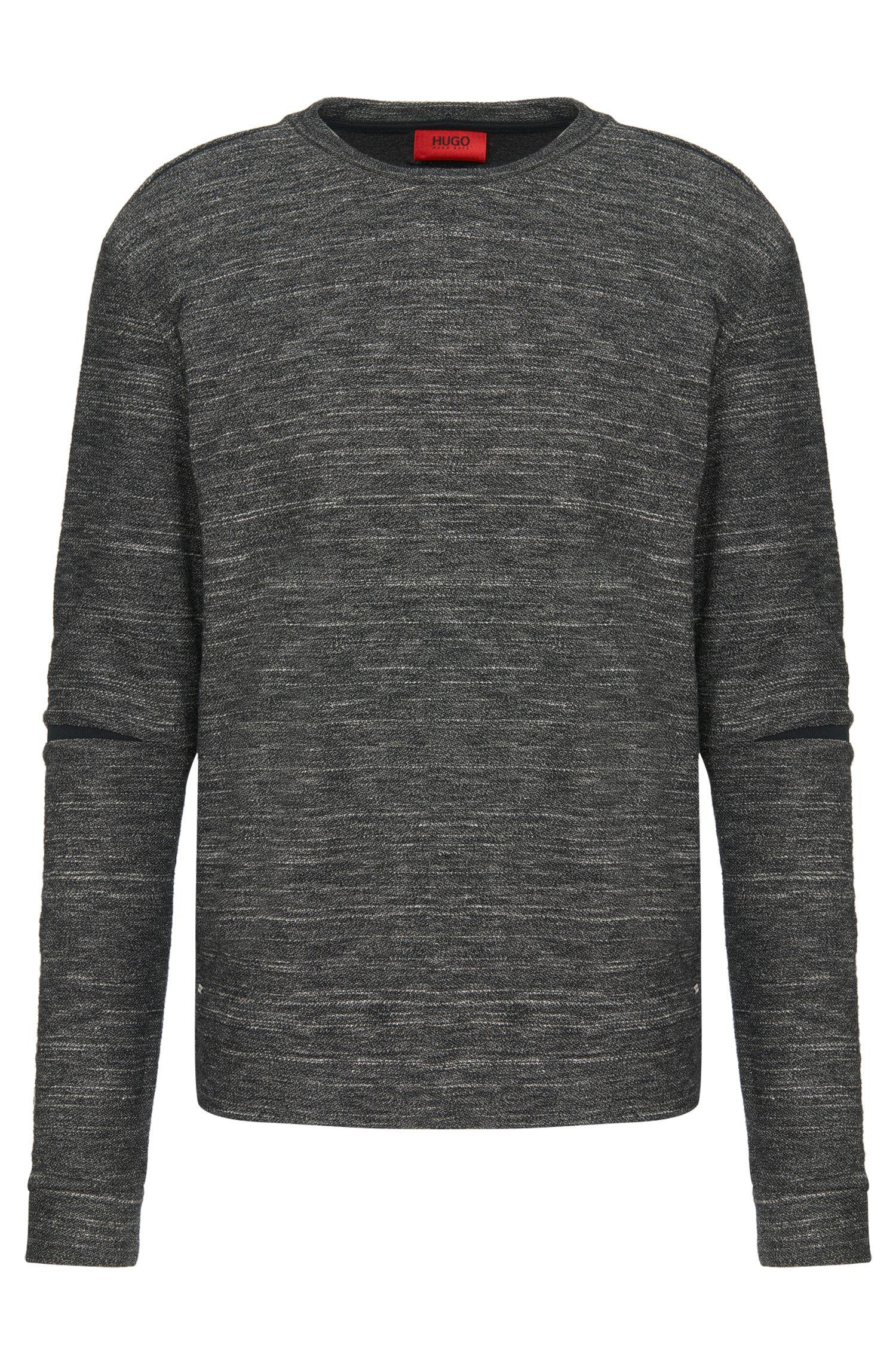 'Daetano' | Cotton Wool Blend Split-Seam Sweatshirt
