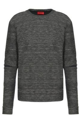 'Daetano' | Cotton Wool Blend Split-Seam Sweatshirt, Charcoal