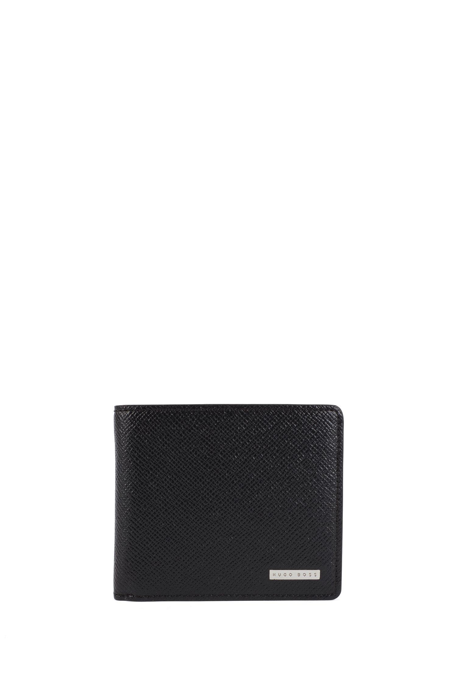 'Signature Trifold'   Calfskin Textured Wallet