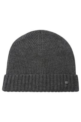 'C-Fati' | Virgin Wool Beanie, Charcoal
