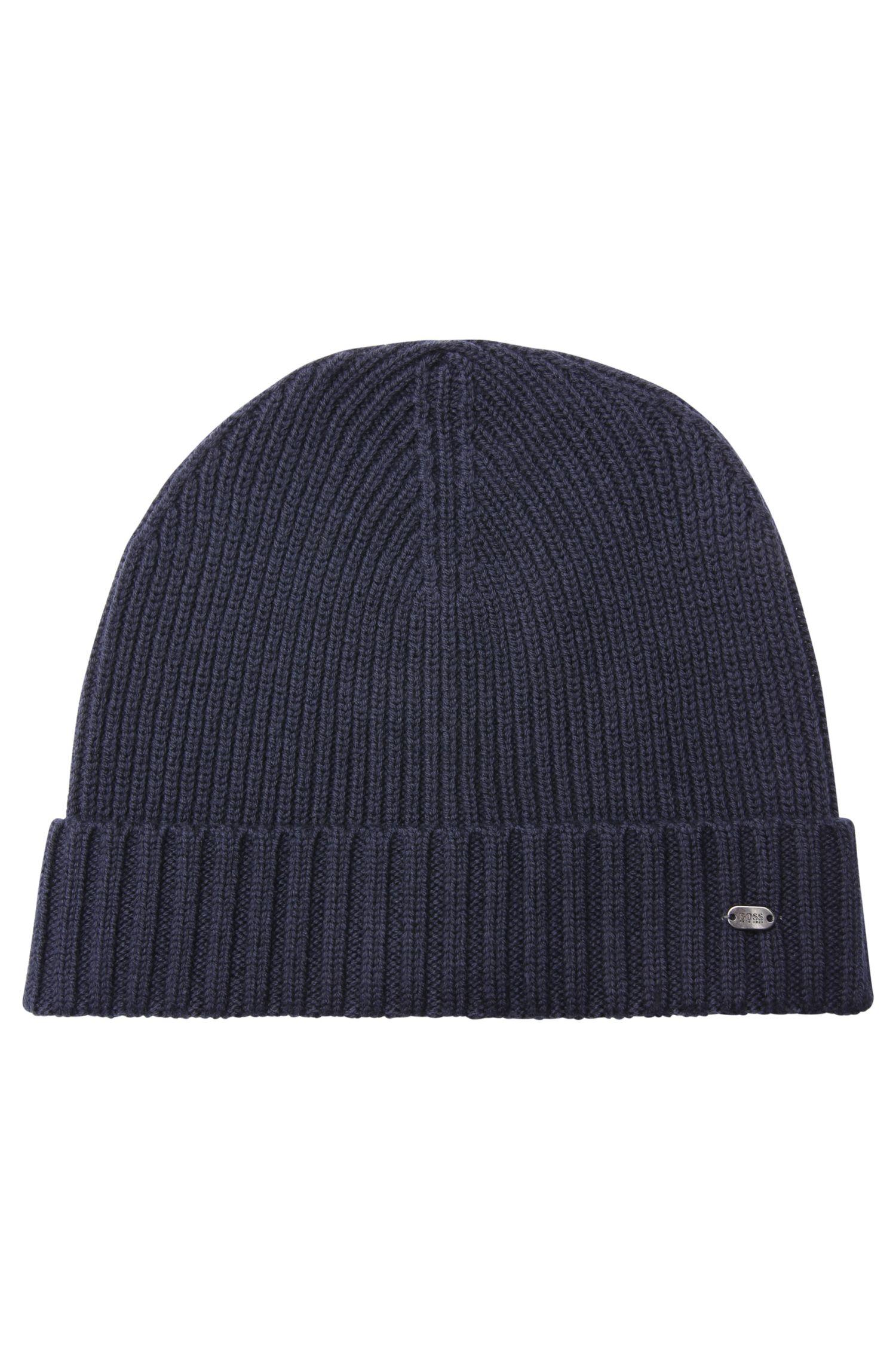 Virgin Wool Beanie | C-Fati, Dark Blue