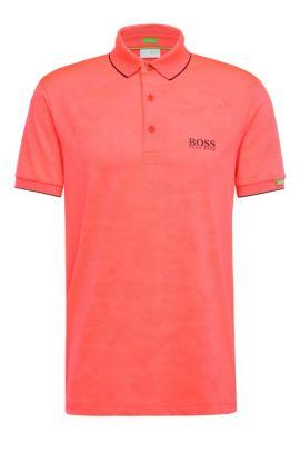 'Paddy MK' | Modern Fit, Stretch Jacquard Polo Shirt, Pink