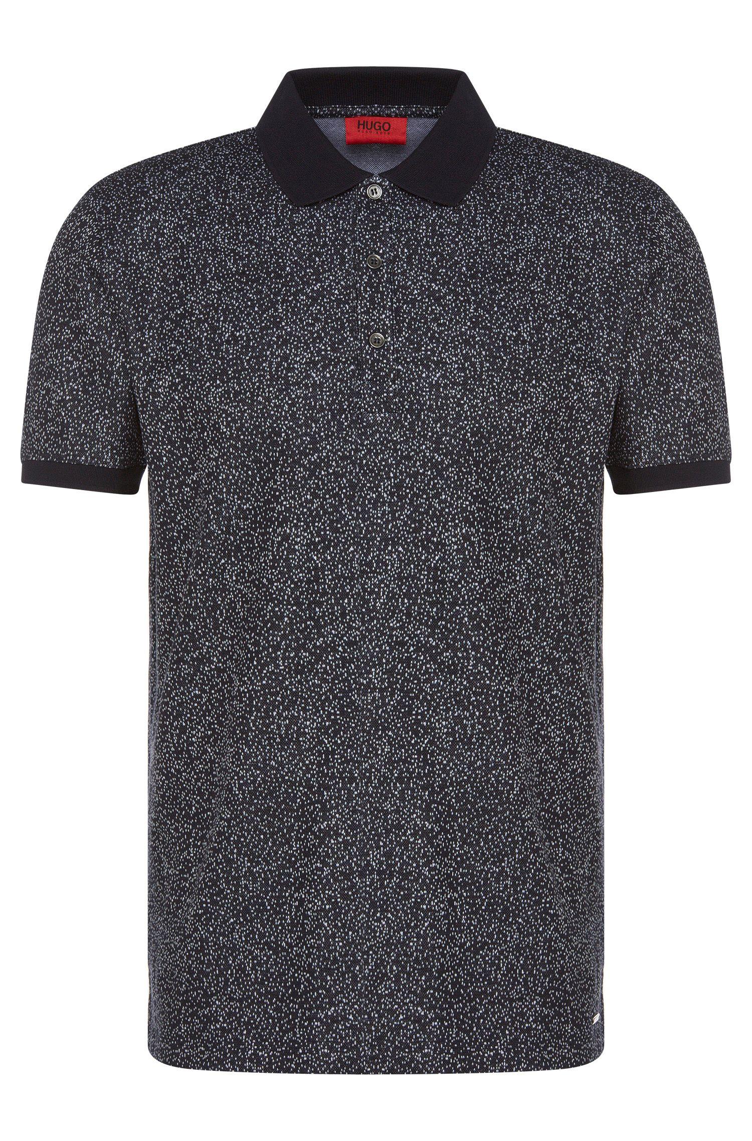 'Dinello' | Slim Fit, Cotton Jacquard Polo Shirt