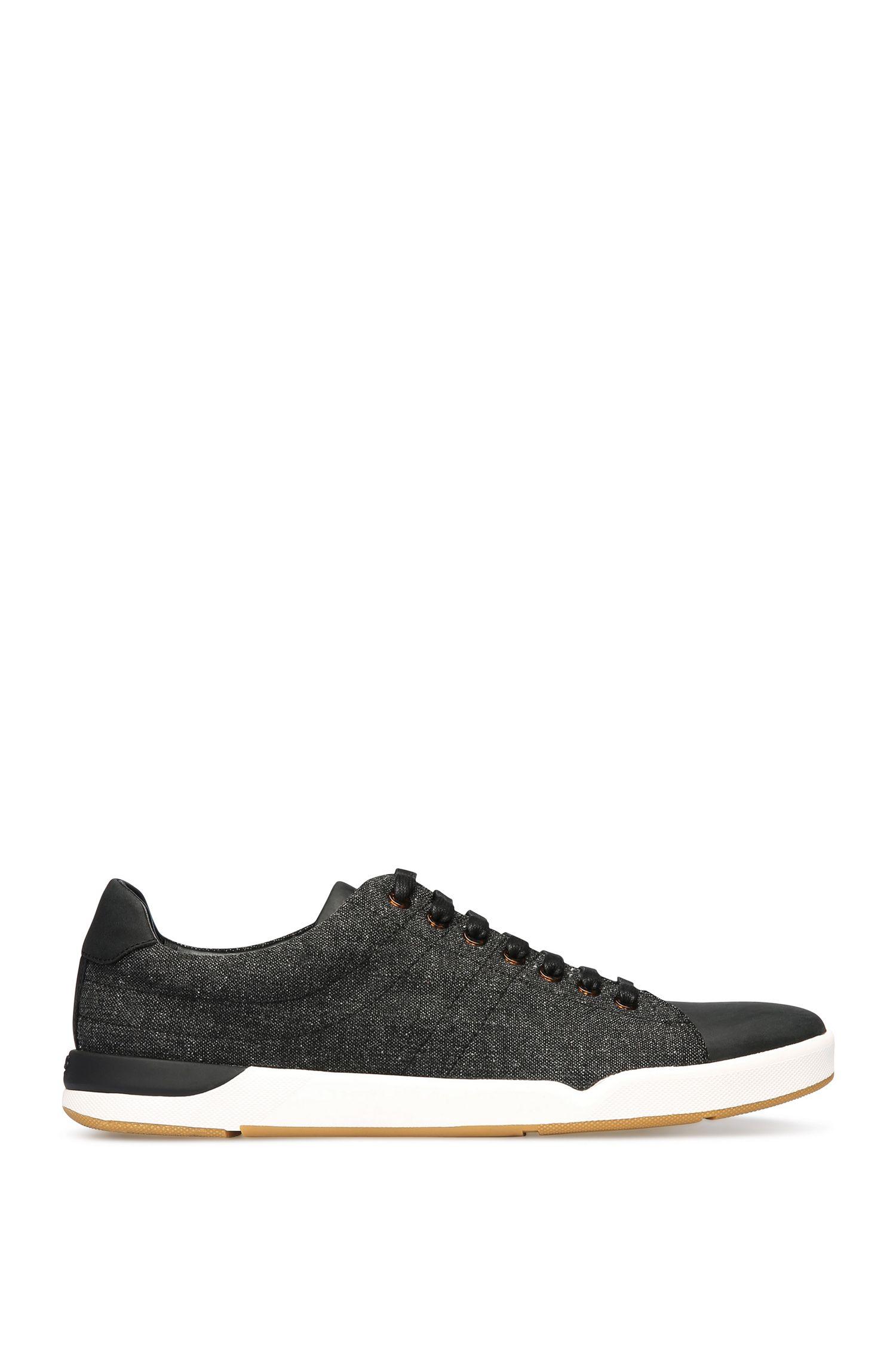 'Stillness Tenn Tw' | Tweed Leather Sneakers