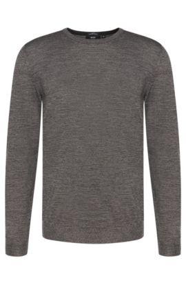 'Leno-B' | Merino Virgin Wool Sweater, Grey