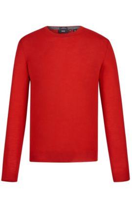 'Leno-B'   Merino Virgin Wool Sweater, Red