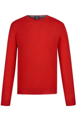 'Leno-B' | Merino Virgin Wool Sweater, Red