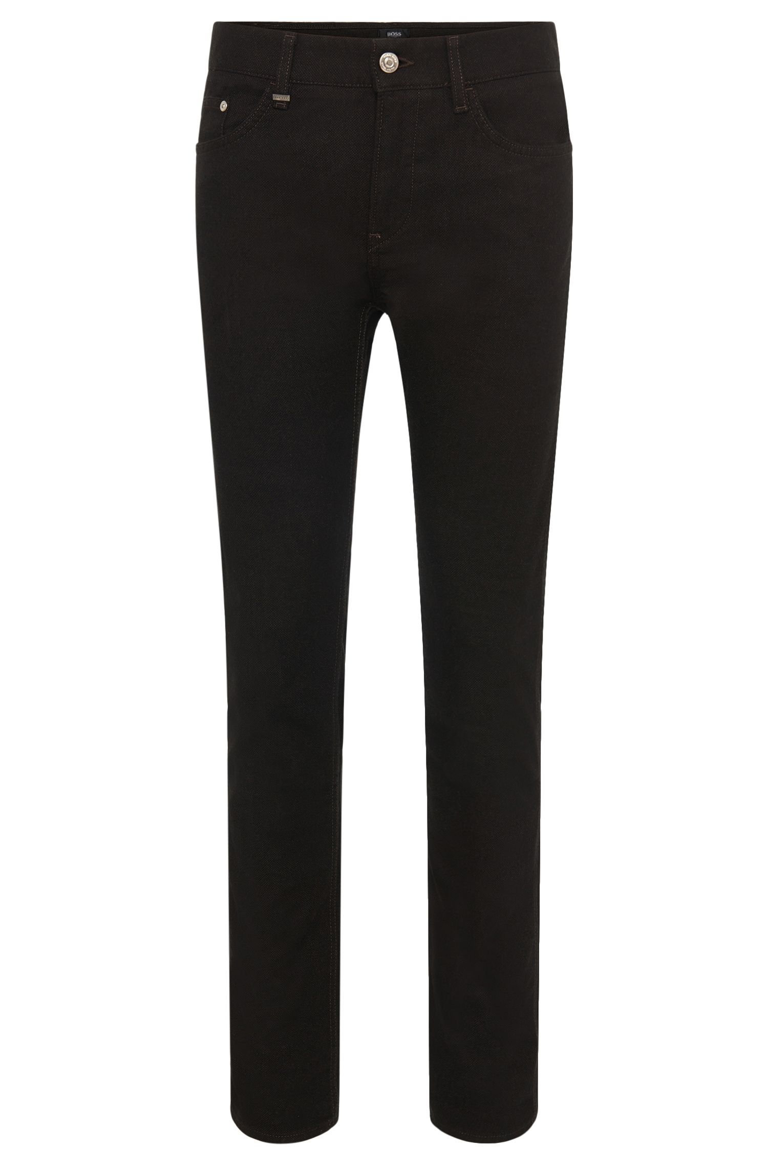 'Delaware' | Slim Fit, 13.5 oz Stretch Cotton Blend Birdseye Trousers