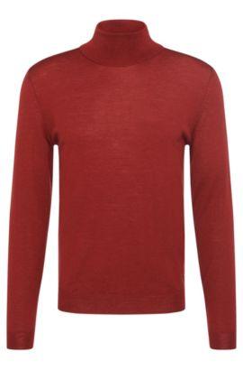 'Musso-B' | Virgin Wool Turtleneck Sweater, Red