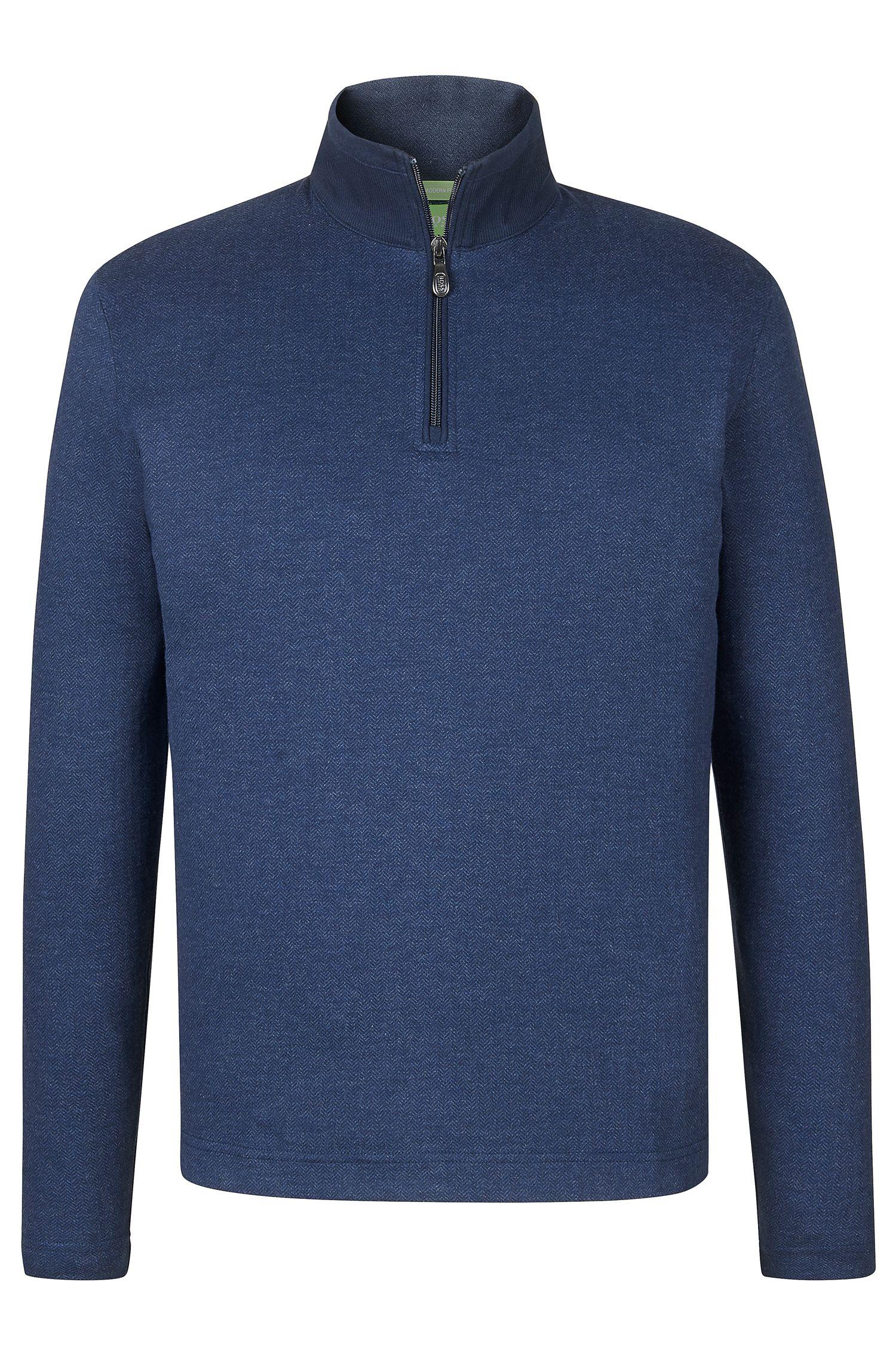'C-Piceno'   Cotton Herringbone Troyer Shirt